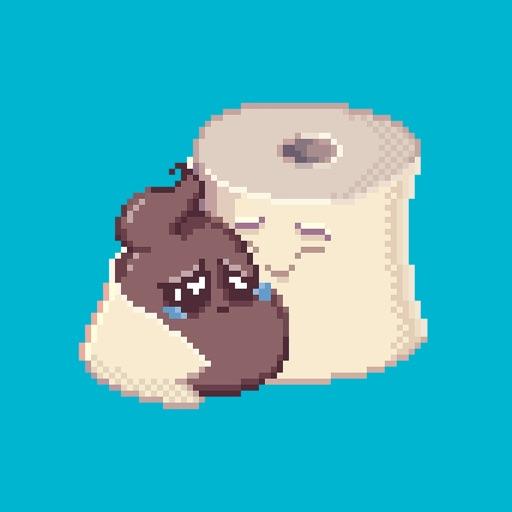 Милые Пиксельные Какашки (анимация)