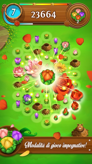 Screenshot of Blossom Blast Saga1