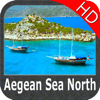 Marine: Aegean Sea (North) HD - GPS Map Navigator