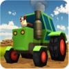 Blocky Farming Simulator USA Tractor Plow Harvest harvester
