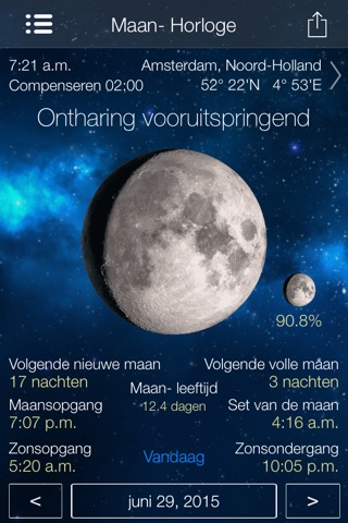 Lunar Watch moon calendar screenshot 1