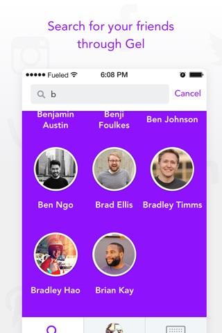 Gel - social connecter screenshot 2