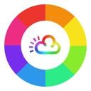 Regenbogen Wetter Widget - Schöne Wettervorhersage
