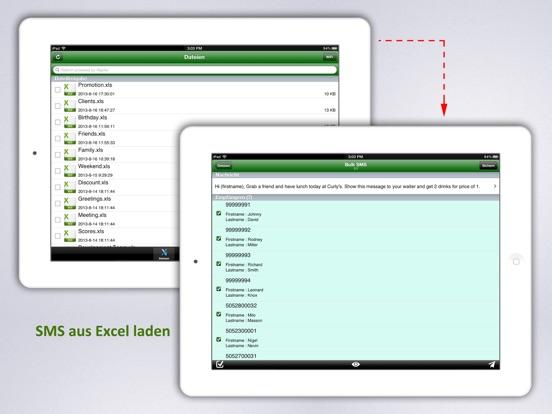 ExcelSMS - Bulk SMS aus Excel Screenshot