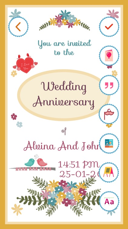 Anniversary invitation card maker pro by bhavik savaliya anniversary invitation card maker pro stopboris Gallery