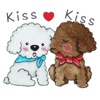Watercolor Couple of Adorable Poodle Dogs Stickers