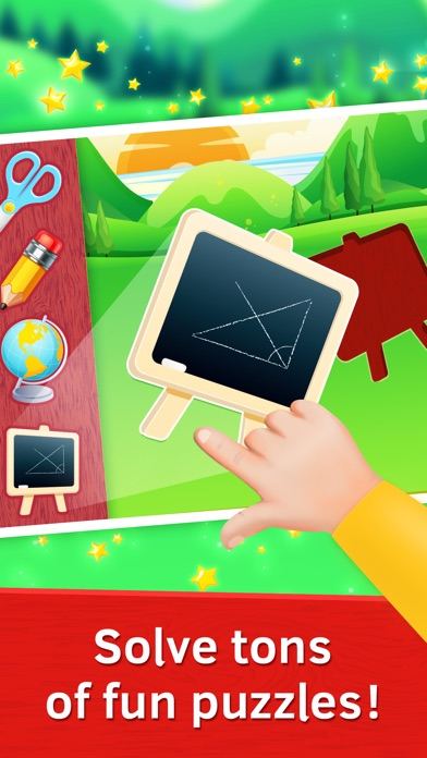 Baby Educational Puzzles. School Tools screenshot one