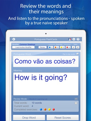Declan Portuguese FlashCards for iPad screenshot 3