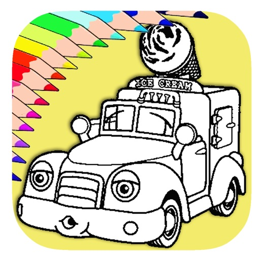 - Ice Cream Truck Coloring Kids Game Version