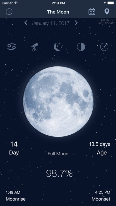 download The Moon - Calendar phase of Moon free apps 2