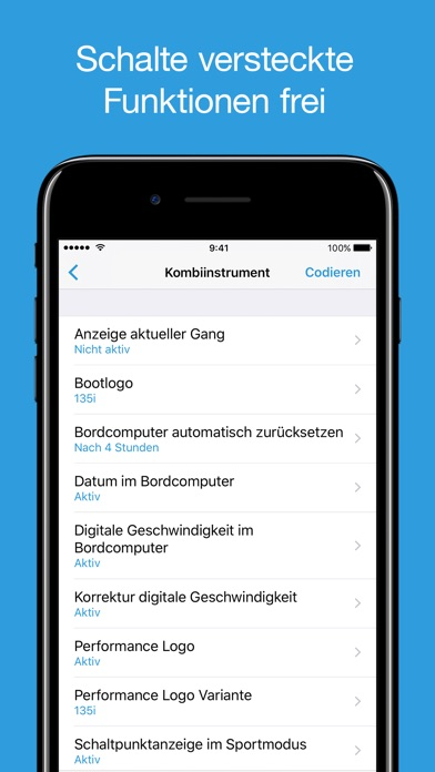 Screenshot von BimmerCode für BMW und Mini2