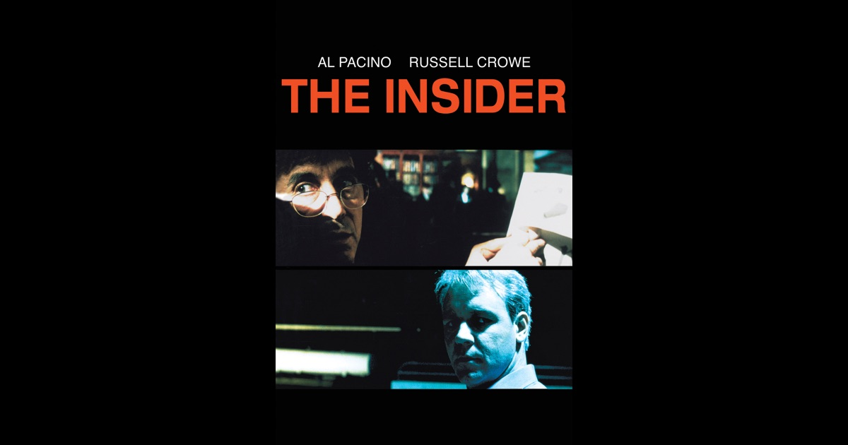 a critique of the movie the insider by michael mann The insider great, but too much by vladimir zelevinsky arts editor directed by michael mann written by eric roth and michael mann.